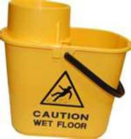 Contico 15 Litre Professional Socket Mop Bucket with High Profile Wringer Green