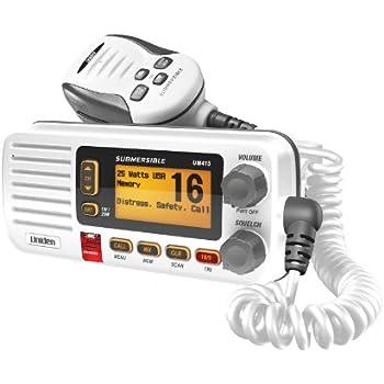 Uniden UM415 Fixed Mount Class D VHF Marine Radio - White