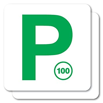 2x p plate green nsw jdm sticker decal