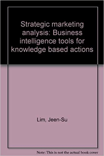 Strategic Marketing Analysis: Business Intelligence Tools for Knowledge Based Actions