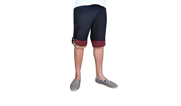 Pantalones bombachos virblatt únicos para hombres, talla única pantalones cagados con patrones tejidos a mano y cómoda cintura elástica - Freundlich N: ...