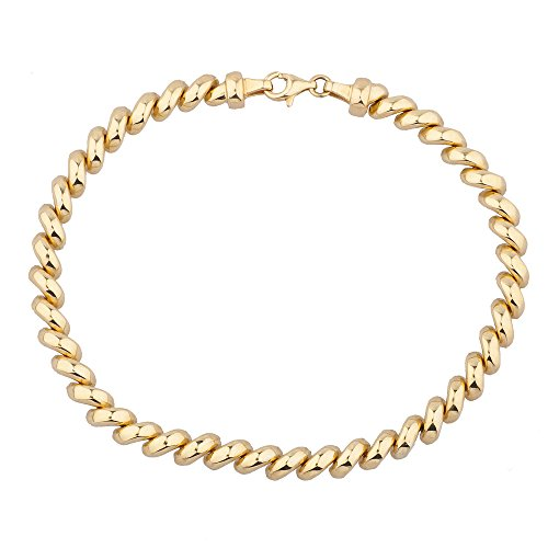 14K Yellow Gold San Marco Bracelet, 7.25