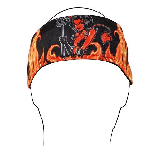 - Zanheadgear Devil Girl Headband (Black/Orange)
