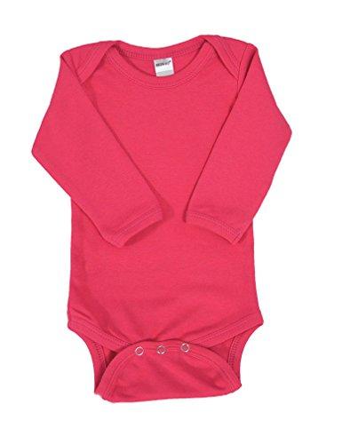 Monag Unisex Baby Bodysuits (12-18M, Fuchsia)