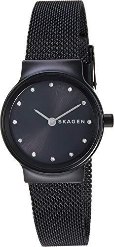 Mesh Skagen Ladies (Skagen Women's Freja Crystal Markers - SKW2747 Black One Size)