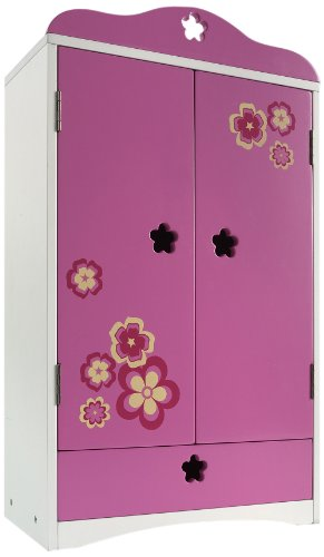 (Madame Alexander Favorite Friends Wood Armoire for 18