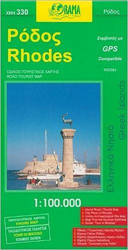 Rhodes 1 100 000 Recreation Map With Rhodes Town Plan Orama