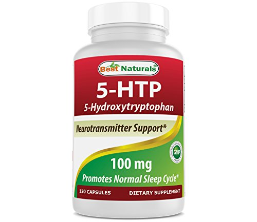 Best Naturals 5-HTP 100 mg 120 Capsules, 5 HTP capsules supports relaxation & restful sleep by Best Naturals