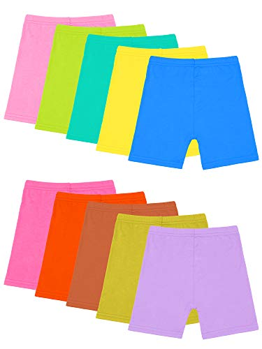 Resinta 10 Pack Dance Shorts Girls Bike Short Breathable and Safety (Color 5, 2-3T)