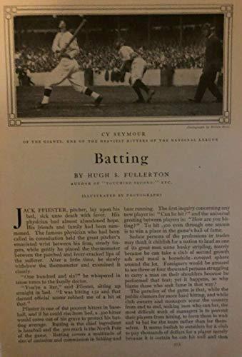 (1910 Batting in Baseball Cy Seymour Ty Cobb Ed Delehanty Napoleon Lajoie)