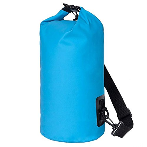NKTM Waterproof Dry Bag Roll Top Dry Compression Sack Keeps Gear Dry for Kayaking, Beach, Rafting, Boating, Hiking, Camping and Fishing 10L / 20L