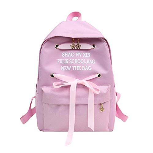travel backpack bow waterproof Women's lace Black qSgRSzw