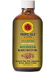 Tropic Isle Living Jamaican Black Castor Oil 8 oz - Glass Bottle