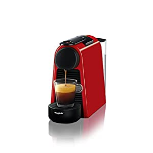 Nespresso Essenza Mini Coffee Machine, Ruby Red Finish by Magimix