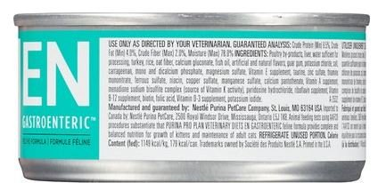 Purina Veterinary Diets EN Gastroenteric Feline Formula Canned Cat Food 24 5.5 oz