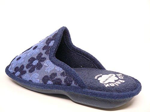 Zapatilla mujer para andar por casa BIORELAX - Suapel rizo color Azul - 4054 - 45 Azul