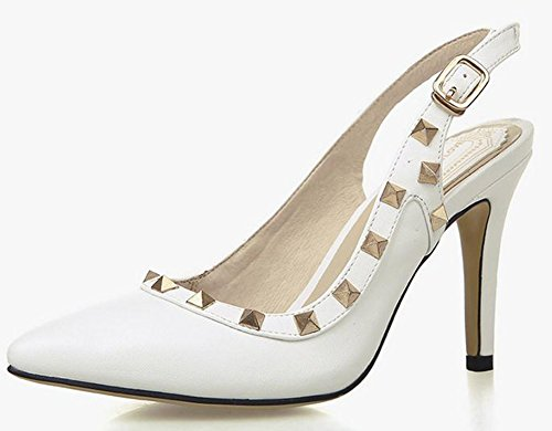 white Pointed Rivet Sandals YTTY 39 4Ptdqx7w