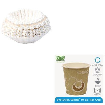 KITBUN1M5002ECOEPBRHC10EW - Value Kit - ECO-PRODUCTS,INC. Evolution World 24% PCF Hot Drink Cups (ECOEPBRHC10EW) and Bunn Coffee Commercial Coffee Filters (BUN1M5002) by Eco-Products, Inc
