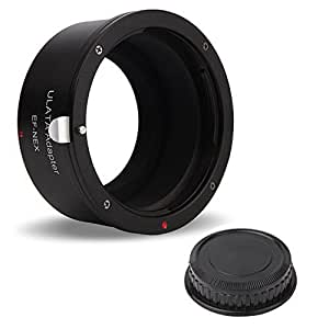 ULATA Canon Lens to Sony E Mount Camera Adapter With Rear Cap For Canon EOS EF Lens To Sony NEX Mount Camera Body Alfa A7R II A7 II A7S II A7R A7 A7S A6300 A6000 A5100 A5000 Black