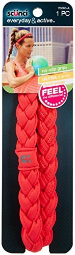 Scunci NS Thick Braided Stretchy Headwrap - Coral ()