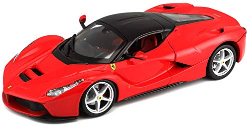 Of Model Vehicle - Bburago Ferrari Race and Play LaFerrari 1/24 Scale Diecast Model Vehicle Red