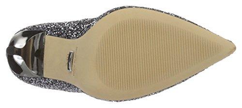 Buffalo London 11335-269 L Glitter, Scarpe col Tacco con Cinturino a T Donna Grigio (Pewter 01)