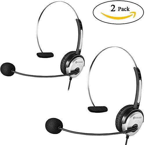 Arama 2 Pack PTT MIC Headphone Headset with Adjustable Band for Baofeng UV-5R BF-480 666S Kenwood TK-208 TK-220 TK-240 KPG27D TH-D7 Radios by Arama