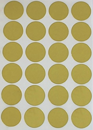 Gold Dot stickers 1