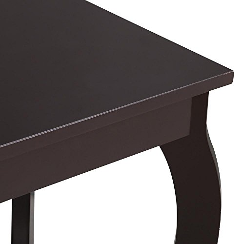 Topeakmart Wood Curved Legs Accent Side End Table Sofa End Table w/Lower Shelf Espresso, Set of 2 by Topeakmart (Image #4)