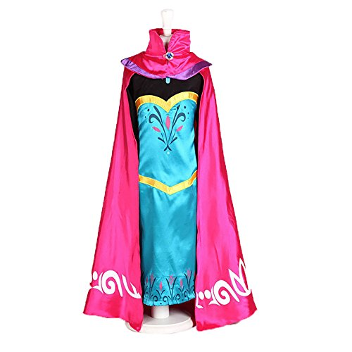 FEC2S Girl Elsa Coronation Dress with Gloves & Crown Option 2T-13 USA (2T-3T (100cm), Blue Dress & Accessory) (Elsa Coronation Dress)