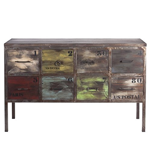 Indhouse Sideboard Kommode In Vintage Metall Und Holz Laia Gunstig