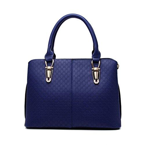 Women's Hobos Shoulder Bags Handbags Top-Handle Satchel Tote Bag Crossbody Bag PU Leather Blue