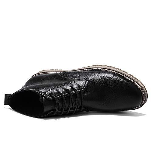 Haut Vers En Marchant Dentelle Robe Chaussures Le Cheville Chukka Homme Noir Bottes Haute Vilocy EzqxwvAZH
