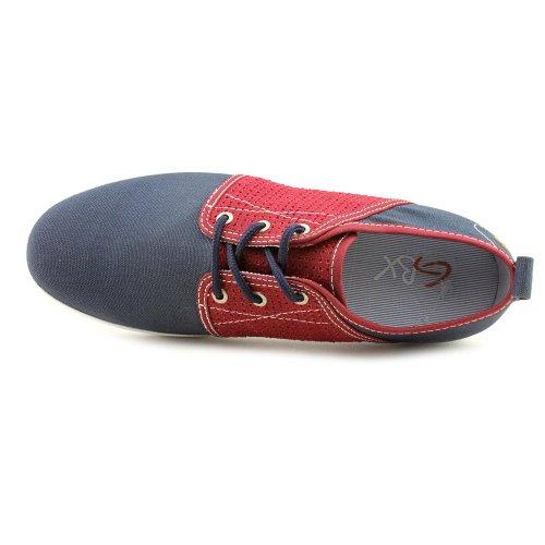 Gbx Mens Soho Eyelet Sneakers Navy / Burgundy