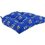 College Covers Kansas Jayhawks Indoor/Outdoor Seat Patio D Cushion, 20'' x 20'', Blue