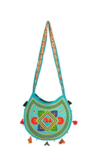 Purse Shoulder Gypsy Patchwork Blue Sling Embroidered Chic Handmade Boho Crossbody Bag Hippie Rzvw8