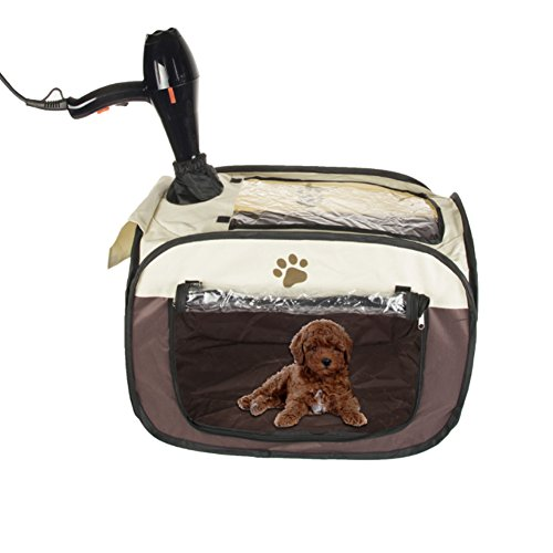 Pet Hair Dryer Hands-free Dryer Clean Grooming House Bag after Bath for Small Cat Dog Rabbit Small Pet