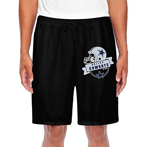 Rebecca Men's Short Running Pants Dallas Cowboy Black Size L (Dallas Cowboys Shorts)