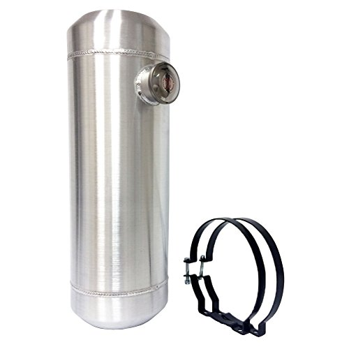(5 Gallons Aluminum End Fill Spun Fuel Gas Tank Cell + Bracket Overall 8
