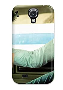 New Arrival Case Cover With UnXyWwh6258CLsrg Design For Galaxy S4- A Boy In White In A White Car