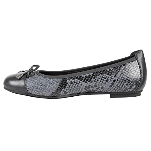 Shoes Grey 359 Snake Womens Minna Vionic Leather 8RInFHwq