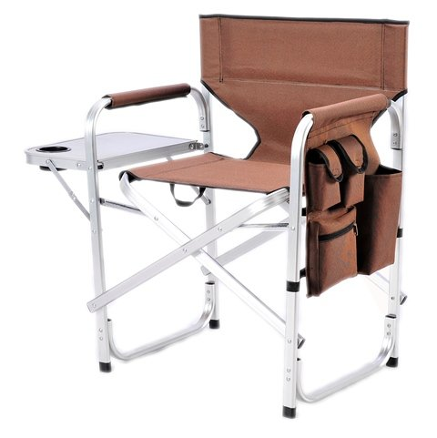 - Stylish Camping SL1204BROWN Full Back Folding Director's Chair