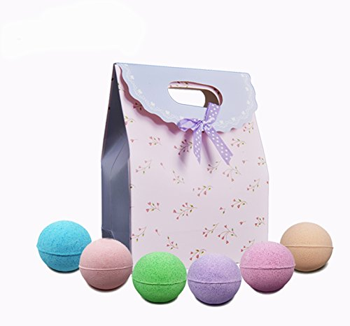 AngelFlipped Bath Bombs gift set Ultra Lush Handmade Essential Oil Spa Bomb Fizzies,Organic and Premium Natural Ingredients,Aromatherapy&Relaxation&Moisturizing Skin,2.1Oz6Pcs(Pink)