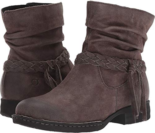 Born Womens Abernath Leather Closed Toe Ankle Fashion Boots, Grey, Size 6.5