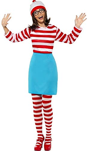 Family Mens Ladies Boys Girls Child's Where's Wally Waldo Wenda Book Day Couples Halloween Party Fancy Dress Costumes Outfits (UK 16-18 for $<!--$44.09-->