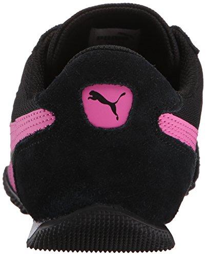 Puma Dames 76 Runner Leuke Mesh Sneaker Zwart / Phlox Roze