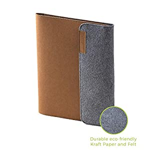 Rocketbook Smart Notebook Folio Cover – 100% Recyclable, Biodegradable Cover with Pen Holder, Magnetic Clasp & Inner Storage – Mars Sand Tan, Letter Size (8.5″ x 11″)