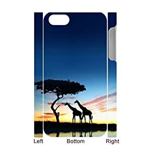 Africa Custom 3D Case for Iphone 4,4S, 3D Personalized Africa Case
