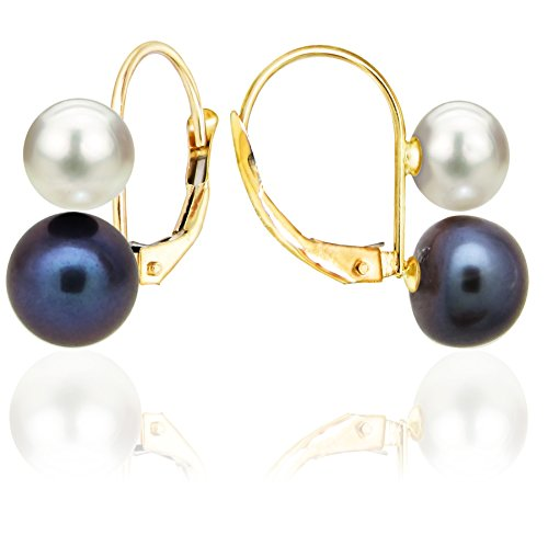14k-yellow-gold-5-55mm-white-and-6-65mm-dyed-black-freshwater-cultured-double-pearl-leverback-earrin