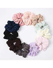 11PCS Women's Chiffon Flower Hair Scrunchies Silk Satin Hair Scrunchies Satin Silk Scrunchies for HairSatin Hair Scrunchies Silk Hair Scrunchies Hair Bow Chiffon Ponytail Holder Hair Bobbles for Girls (#)